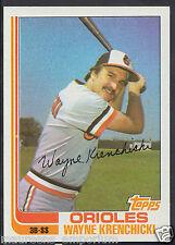 Tarjeta de béisbol Topps 1982-no 107-Wayne Krenchicki-de Orioles