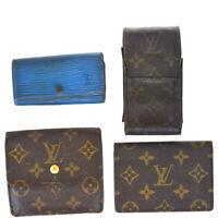 Auth Louis Vuitton Monogram Epi 4 Set Pass Case Key Case Cigarette Case  01FB699