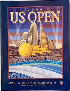 2006 OFFICIAL US OPEN TENNIS CHAMPIONSHIP PROGRAM FEDERER SHARAPOVA 250 PAGES