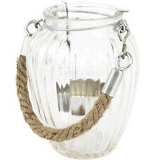 2 X Luz De Té De Vidrio Rústico sostenedores de vela Candelabro objeto de decoración del hogar vintage