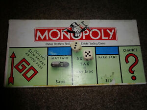 MONOPOLY Parker Bros complete very good condition inside, box repaired