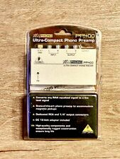 Behringer Ultra Compact Phono PreAmp Micro Phono PP400 (Brand New)
