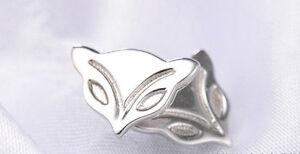 Ohrstecker Ohrring Fuchs Kopf Fuchskopf aus 925 Sterling Silber