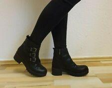 Damen -Stiefel, Stiefeletten, Boots, echtes Leder, EU 38, Schwarz, Neu/New