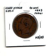 Regno d'Italia 10 centesimi  1863 Parigi  V.Emanuele II    MB/BB    (m1073)