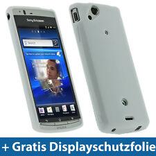 Weiß Weiss TPU Tasche für Sony Ericsson Xperia Arc S Android Gel Schutz Hülle