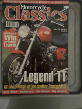 MOTORCYCLE CLASSICS AUGUST 1998 TRIUMPH DUCATI GARAGE SHED BARN FIND MOTOR BIKE