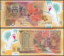 Trinidad & Tobago $50 Dollars, 2014, P-54, UNC, Polymer