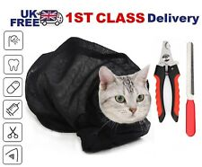More details for mesh cat grooming bath bags washing bags for pet bathing nail trimming injecting