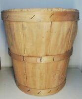 Ancien seau en bois vintage décoration collection XXème Siècle H 29 Cm rangement