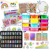 BULUNO Slime Kit - Slime Making Kit for Kids Art Craft, with 48 Glitter Powder,