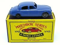 Matchbox Lesney No.65a Jaguar 3.4 Litre Saloon In 'B4' Series MOKO Box