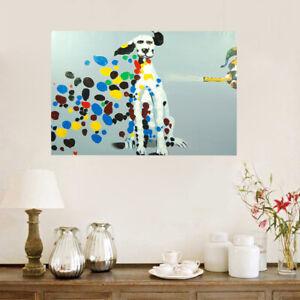 Framed Modern Wall Art Decor 100% Hand Painted Canvas Oil Painting - Dalmatian