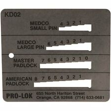 STAINLESS PRO-LOK MEDECO MASTER AMERICAN KEY DECODER - KD02