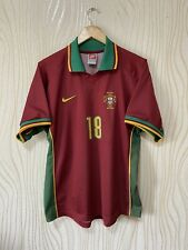 PORTUGAL 1997 1998 HOME FOOTBALL SHIRT SOCCER JERSEY NIKE PLAYER ISSUE? # 18