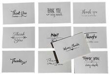 100 Pack Thank You Note Cards Bulk Set Box - Blank - 10 Vintage Handwritten D...