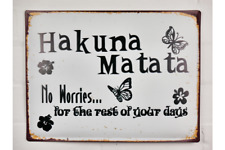"""SWAHILI RUSTIC STYLE SIGN """"HAKUNA MATATA NO WORRIES FOR THE REST OF YOUR DAYS"""""""