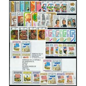 HONDURAS/STAMPS - LOT WITH 35 STAMPS + 3 SOUV SHEETS - COMPLETE SETS - MNH