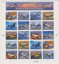 US MNH Sheet, 37-cent American Advances in Aviation, 2005, Scott #3812-15