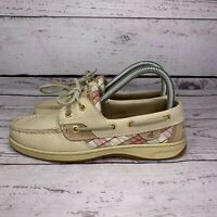 Sperry Womens Top Sider Driving Boat Leather Lace Up Tan Shoes Size 6.5 M