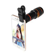 New Clip-on 8x Zoom Optical Lens universal holder For Camera Mobile Cell Phone