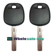 2 Replacement Uncut Transponder Chip Ignition Key Blade For 89785-50030 Lexus