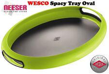 Wesco Design Serviertablett vom Fachgeschäft Spacy Tray OVAL Limegreen 322102-20