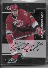 01 02 BAP Signature Sereis Eric Cole Rookie Card RC Auto