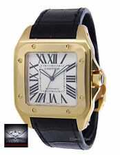 Cartier Santos 100 XL 18k Yellow Gold Mens Watch Box/Books 2657 W20071Y1