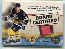 2001-02 Greats of the Game Board Certified 4 Cam Neely Joe Louis Arena Boards