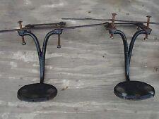 Pair of Vintage 1800's Original Horse Drawn Carriage Coach Steps w/ Brackets