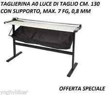 RIFILATRICE PER DISEGNI PLOTTER LAMA ROTANTE A0 LUCE TAGLIO CM 130 TAGLIERINA