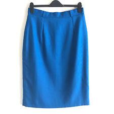 DEBENHAMS WOMEN'S BLUE PENCIL SKIRT - Size UK16
