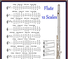 FLUTE CHART - 12 SCALES - EVERY NOTE IN ANY KEY