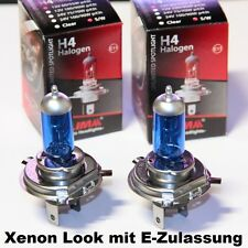 2 x H4 Xenon Look 12V 60W Halogen Lampe super weiss schöner Lichtfarbe OVP  NEU