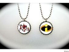 THE INCREDIBLES superhero pixar -  2 sided necklace