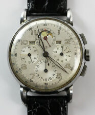 Vintage Universal Geneve Tri-Compax Chronograph Watch for parts or repair
