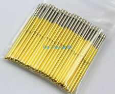 100 Pieces P100-G2 Dia 1.36mm Length 33.35mm Spring Test Probe Pogo Pin