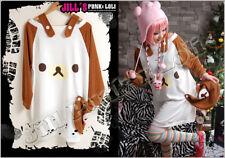 Japan lolita cartoon Rilakkuma honey cake boat neck tunic T-shirt【JCE0006BR】