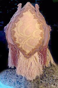 VICTORIAN GLASS BEADED Lampshade FRINGE Beads *SCARCE Boudoir Style