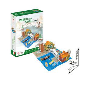 Cubic Fun 3D Puzzle Set Stadt Venedig Rialtobrücke Markusturm Hafen Italien Set