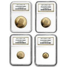2007 South Africa 4-Coin Gold Krugerrand Proof Set PF-69 NGC - SKU #151251