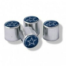 Chrome Plastic Football Dallas Cowboys Tire Valve Stem cap Covers 4 Piece set