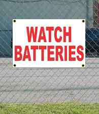 2x3 WATCH BATTERIES Red & White Banner Sign NEW Discount Size & Price FREE SHIP