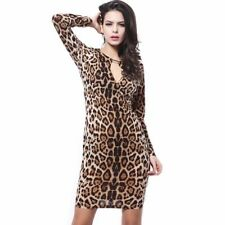 Clubwear Leopard Machine Washable Dresses for Women