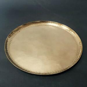 Harald BUCHRUCKER, Messing Teller,Tablett, brass plate, brass tray, 23,7 cm