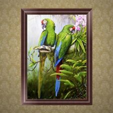DIY 5D Diamond Embroidery Parrots Rhinestone Painting Cross Stitch Home Decor