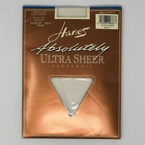 Hanes Vintage Absolutely Ultra Sheer Size C Pearl Style 707 Pantyhose