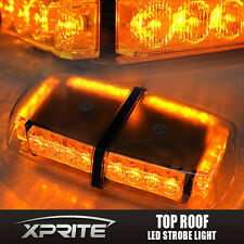 Roof Top 24 LED Warning Emergency Hazard Rooftop Flash Strobe Light Bar Amber