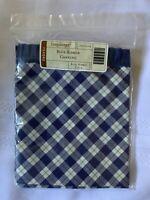 Longaberger Fabric Liner Blue Ribbon Plaid For Canning Basket 20242148